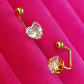 σκουλαρίκια χρυσές καρδιές